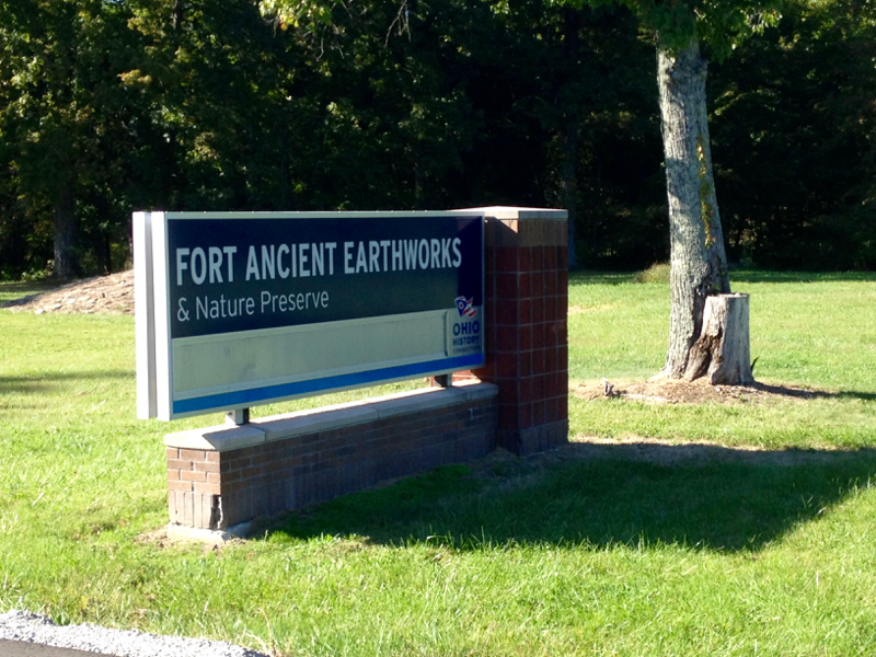 sign for Fort Ancient Earthworks