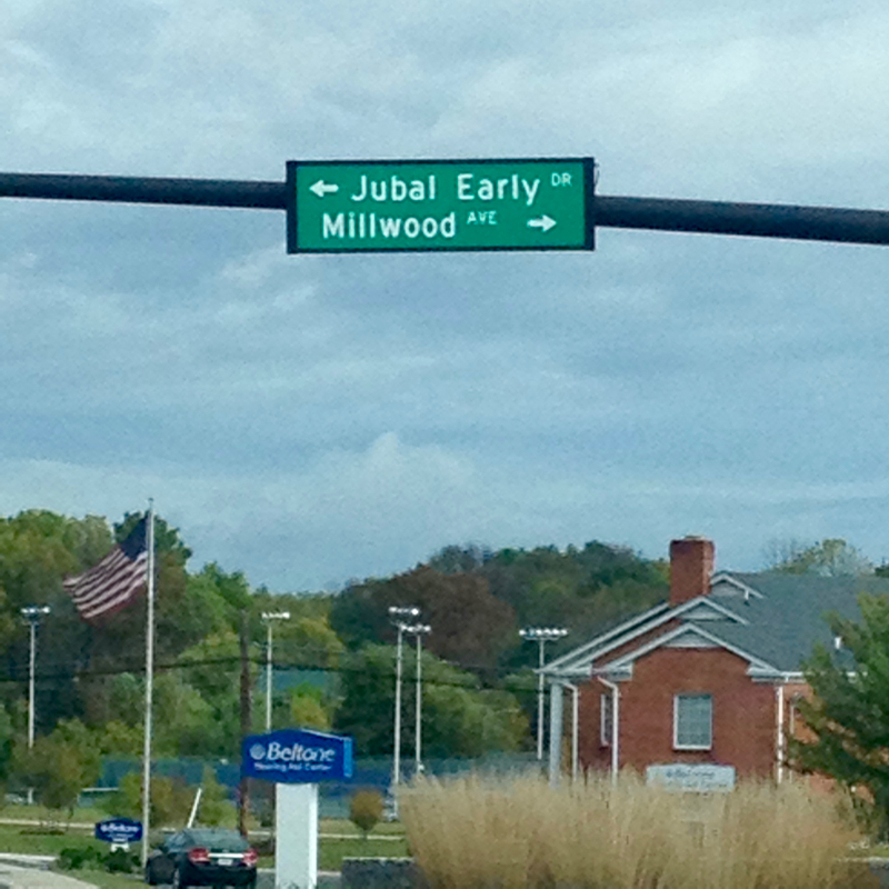 street sign Jubal Early