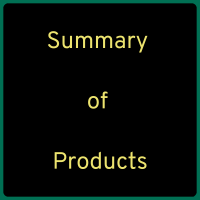 Summary of Products Used