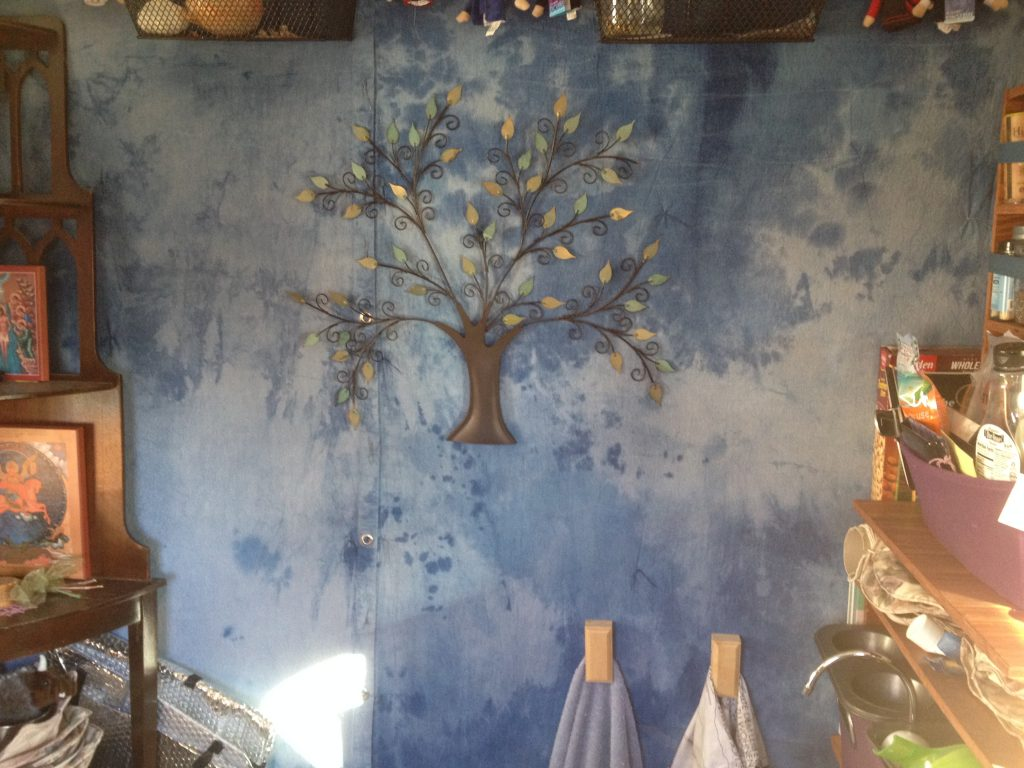 wall decoration of metal tree