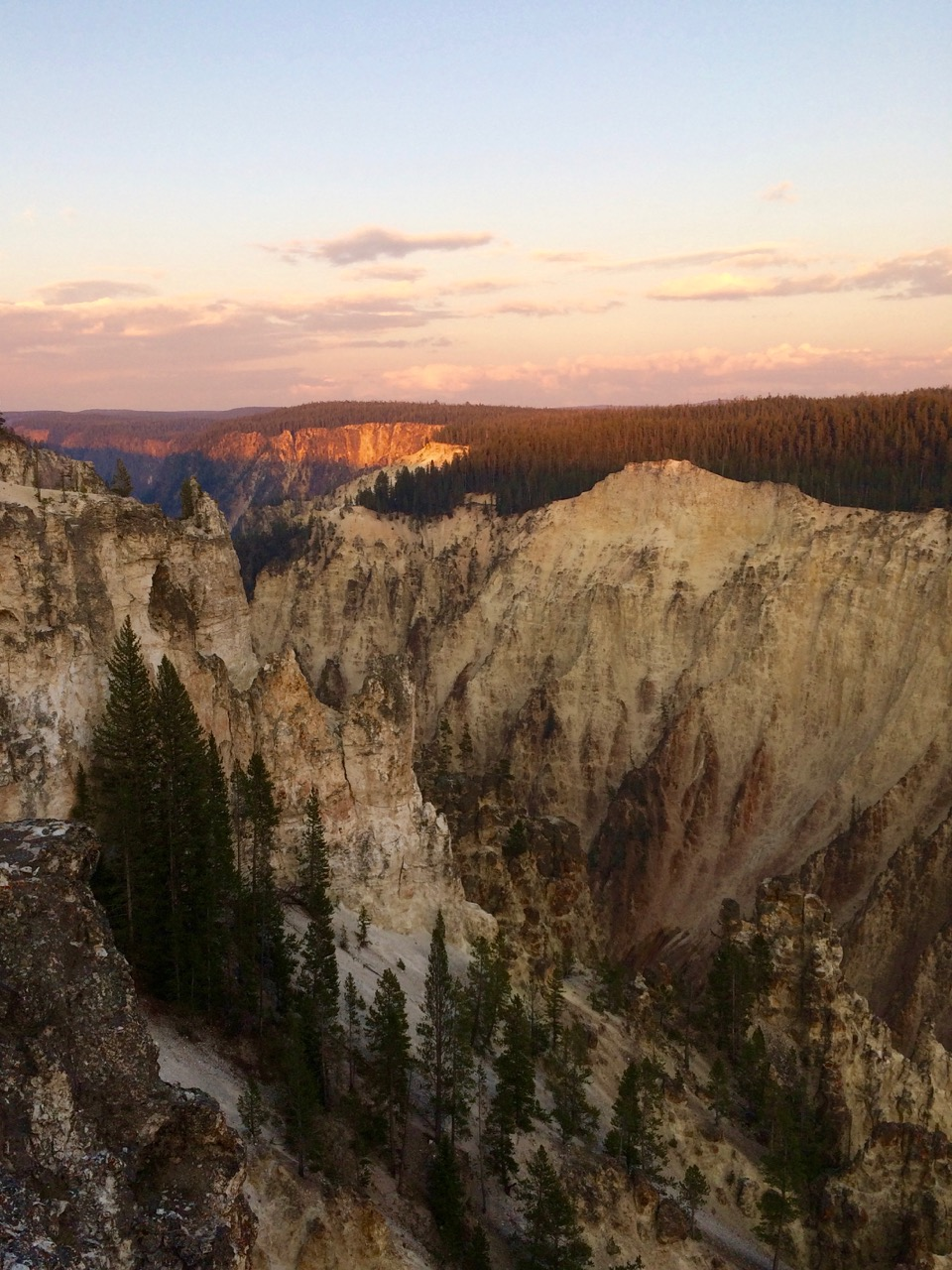 The Grand Canyon of the Yellowstone at Sunset